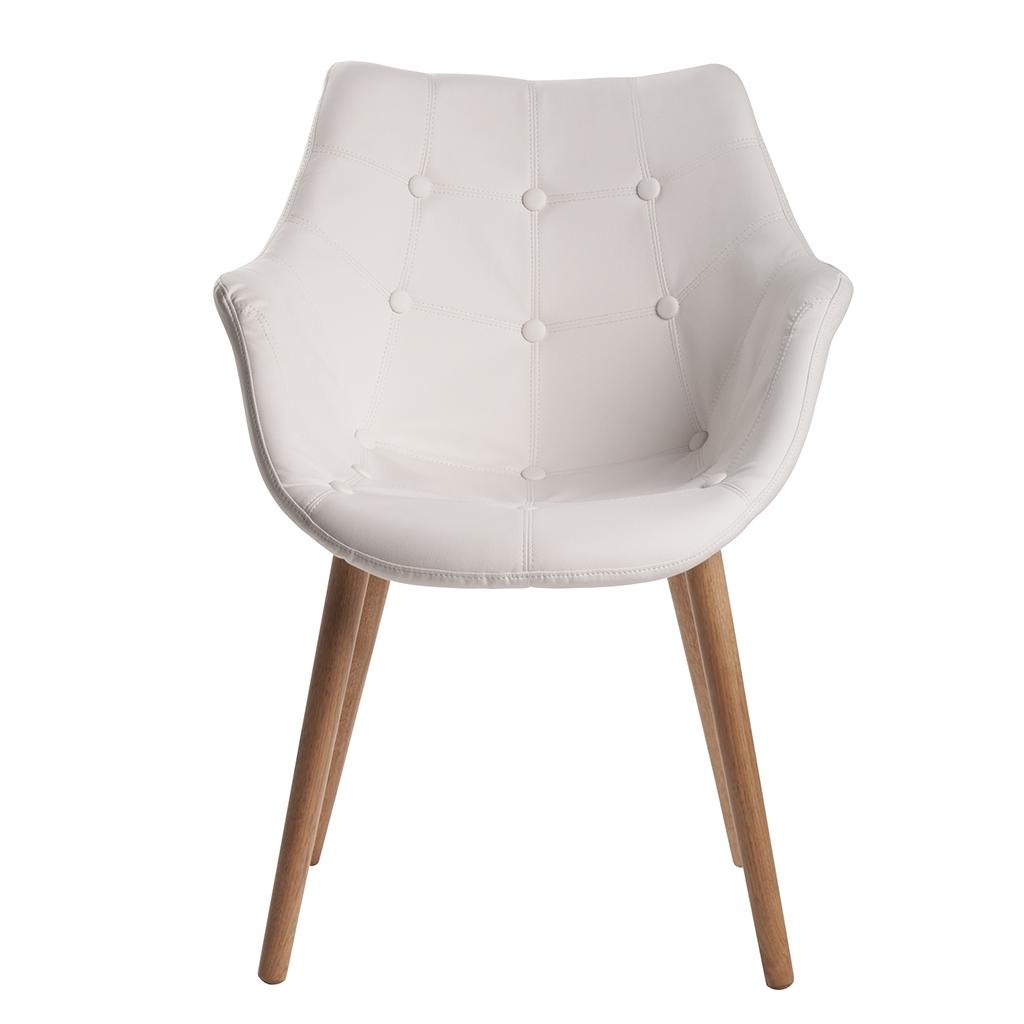 Krzes a dekoracyjne eleven od zuiver north south home blog - Chaise de cuisine en cuir blanc ...