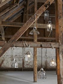 skandynawskie szklane lampy  Hubsch