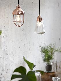 Lampy miedziane Hubsch