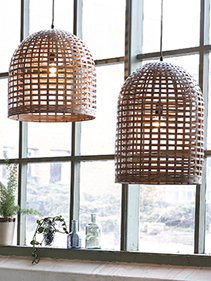 Lampy drewniane ażurowe Hubsch