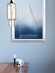 Lampa, obraz, pokój House Doctor
