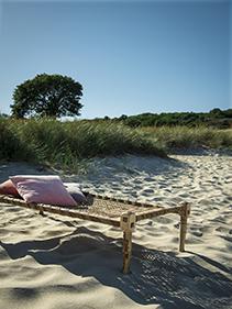 Leżak drewniany poduszki Bloomingville