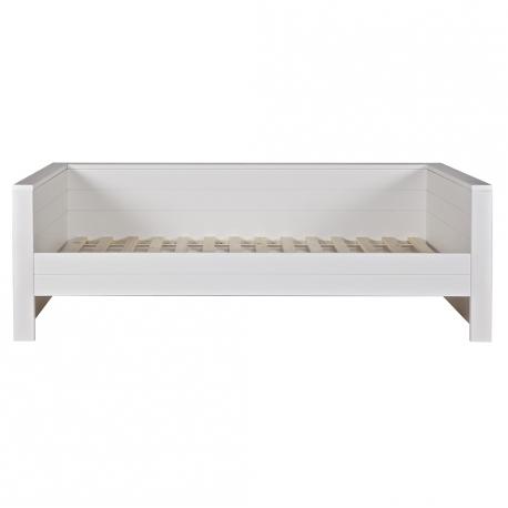 Łóżko ROBIN zabudowane, białe - Woood