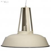 Lampa wisząca INEZ, średnica 42 cm, kremowa