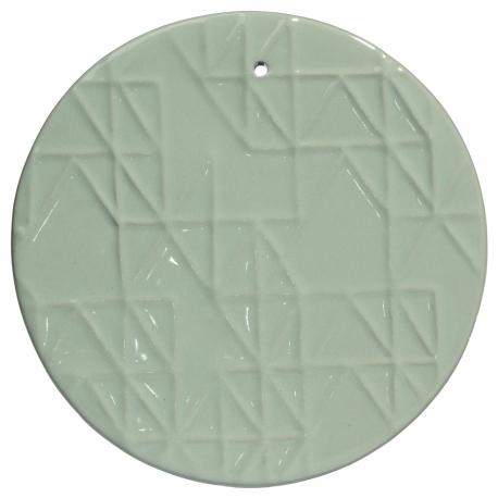 Ozdoba ścienna ceramiczna, miętowy