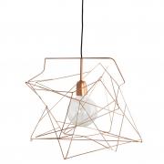 Lampa ASYMMETRIC 45x45 cm, miedziana