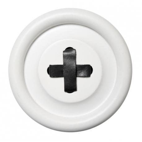 Guzik-wieszak biały M