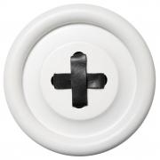 Guzik-wieszak biały L
