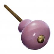 Gałka  ceramiczna, różowa