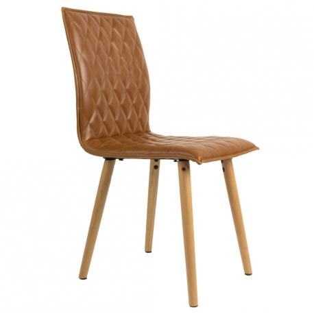 Krzesło ANDY, brązowe - White Label Living