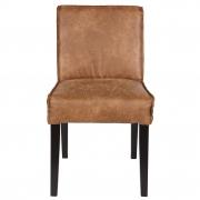 Krzesło skórzane RODEO, koniakowe