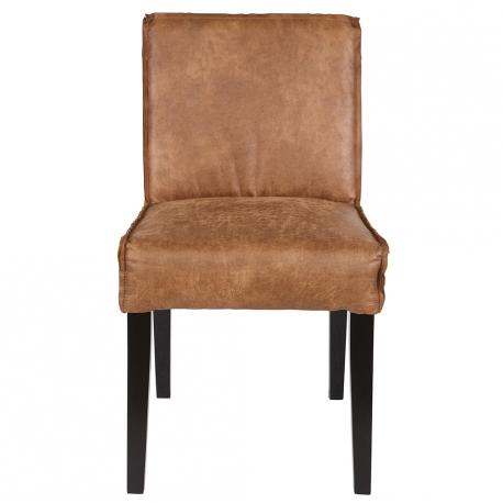 Krzesło skórzane RODEO, koniakowe - Be Pure