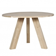 Stół okrągły RHONDA 129 cm, dębowy