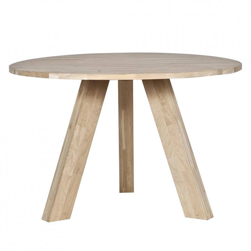 Bardzo dobryFantastyczny Stół okrągły RHONDA 129 cm, dębowy - North&South Home OP62