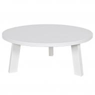 Stolik okrągły RHONDA 80 cm, biały