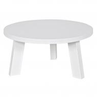 Stolik okrągły RHONDA 60 cm, biały