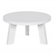 Stolik okrągły RHONDA 50 cm, biały