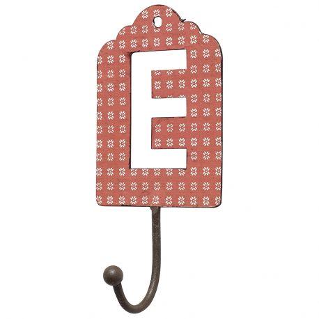 Wieszak metalowy, litera E