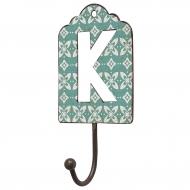 Wieszak metalowy, litera K