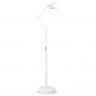 Lampa podłogowa GLASGOW, biała