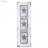Ramka na zdjęcia JONES, potrójna, biała