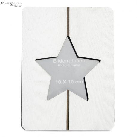 Ramka stojąca na zdjęcia STAR, biała