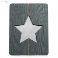 Ramka stojąca na zdjęcia STAR, szara