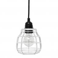 Lampa LAB z włącznikiem, biała