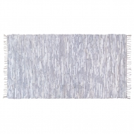 Dywan skórzany,  kolor biało- szary, 175x90 cm