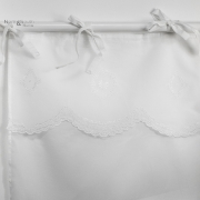 Zasłona bawełniana biała