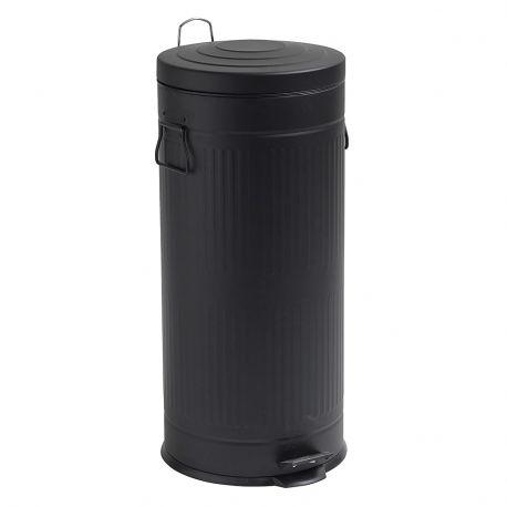 Kosz na śmieci, czarny, 30 litrów - Nordal