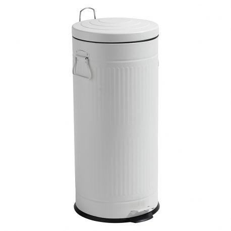 Kosz na śmieci, biały, 30 litrów