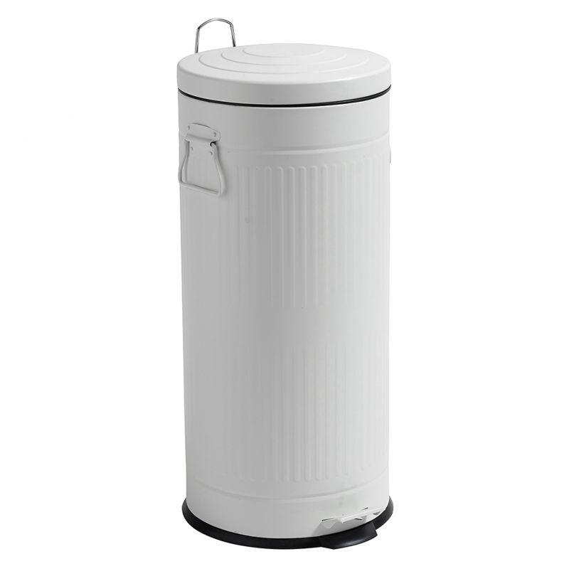Nowoczesna architektura Kosz na śmieci, biały, 30 litrów - North&South Home VN47
