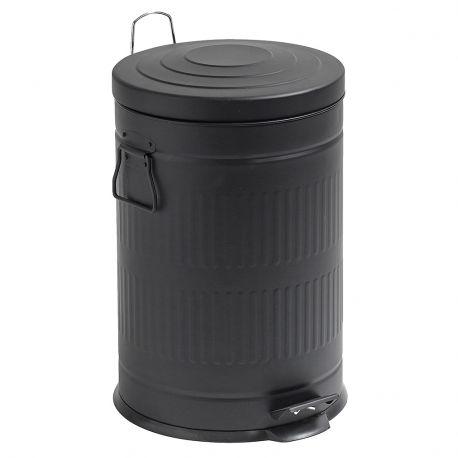 Kosz na śmieci, czarny, 20 litrów