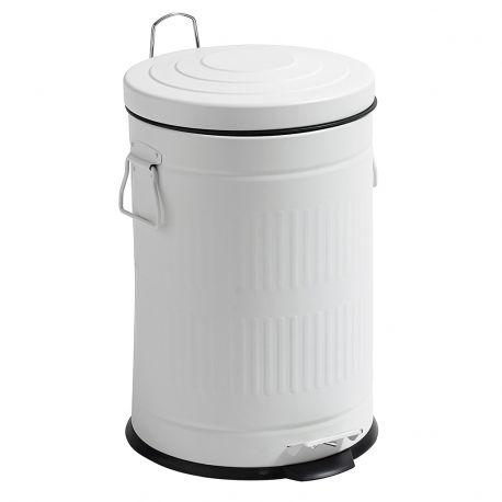 Kosz na śmieci, biały, 20 litrów - Nordal