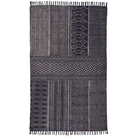 Dywanik, antyczny czarny wzór - Ib Laursen
