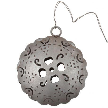 Ozdoba świąteczna metalowa z ornamentem -