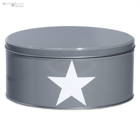 Pojemnik kuchenny Star duży, szary 9 cm