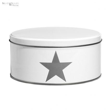 Pojemnik kuchenny Star średni, biały 8 cm