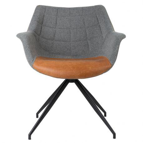 Fotel DOULTON vintage, szaro-brązowy