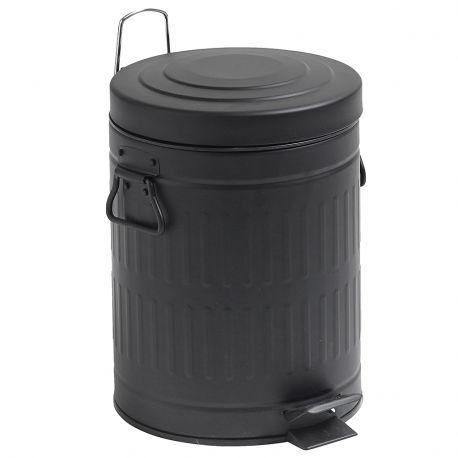 Kosz na śmieci, kolor czarny 5 litrów - Nordal