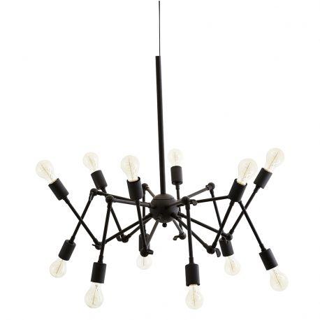 Lampa metalowa, czarna - Madam Stoltz