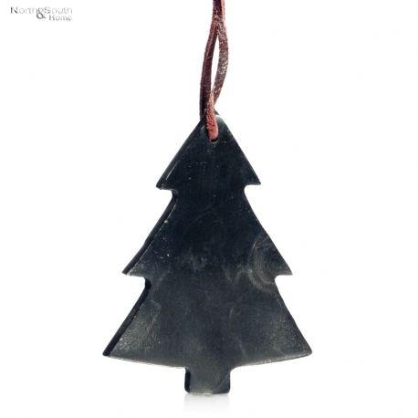 Ozdoba świąteczna wisząca CHOINKA, czarna -