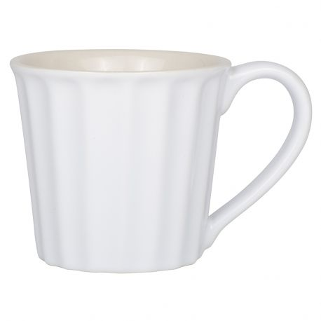 Kubek ceramiczny z uchem, biały - Ib Laursen