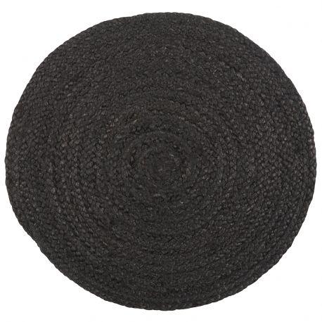 Podkładka jutowa, okrągła, czarna - Ib Laursen
