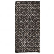 Dywanik skórzany, 70 x 160 cm, brązowy z wzorem