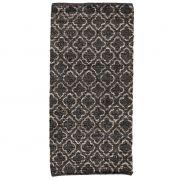 Dywanik skórzany, 70 x 150 cm, brązowy z wzorem