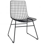 Krzesło metalowe WIRE, kolor czarny