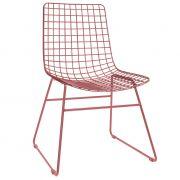Krzesło metalowe WIRE, kolor wiśniowy