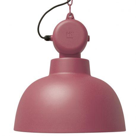 Lampa FACTORY L, wiśniowa matowa